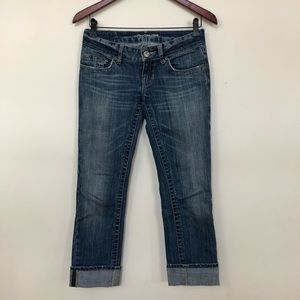 American Eagle Outfitters Cuffed Ankle Jeans